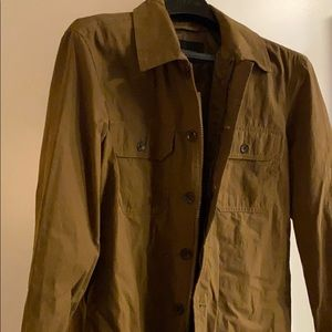 Khaki/tan men's shirt jacket from BR - L